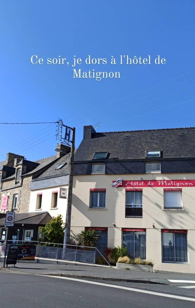 L'hôtel de Matignon, situé au pied de la Vélomaritime