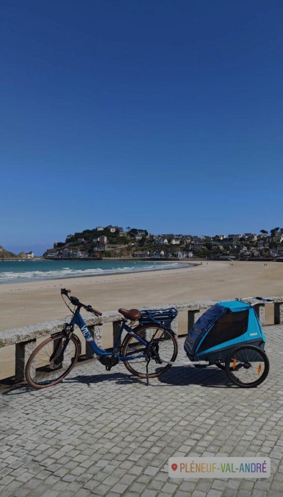 Vélo Kaouann sur la Vélomaritime en itinérance en voyage à vélo en Bretagne