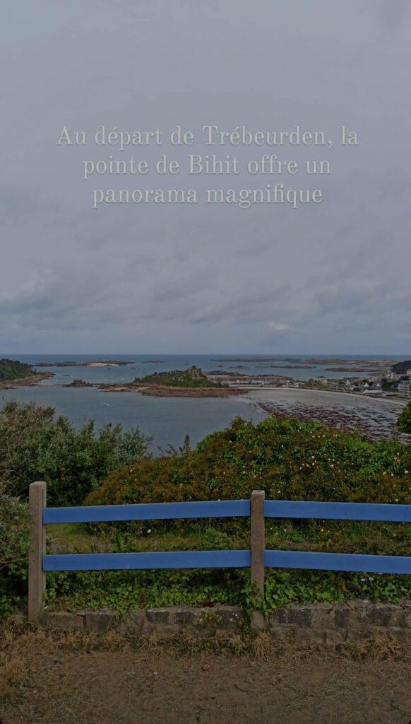 La pointe de Bihit et son panorama, sur la Côte de Granit Rose en Bretagne, près de la Vélomaritime et du GR34