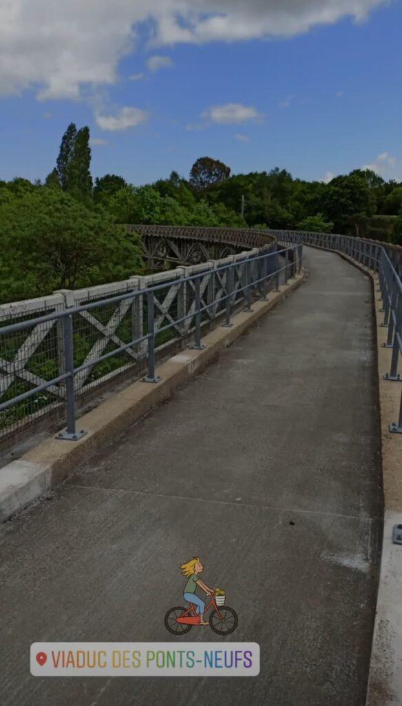 La Vélomaritime passe sur le Viaduc des Ponts-neufs en Bretagne