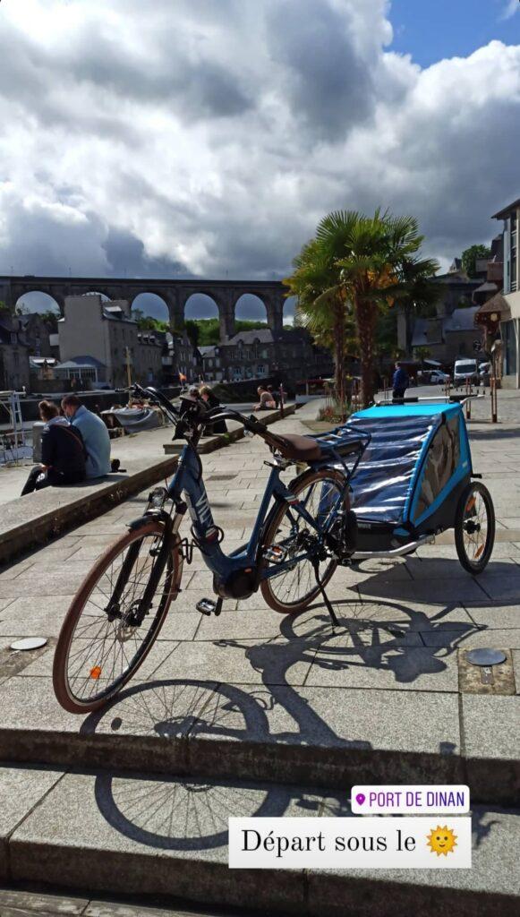 Départ de Dinan pour mon voyage à vélo en Bretagne !