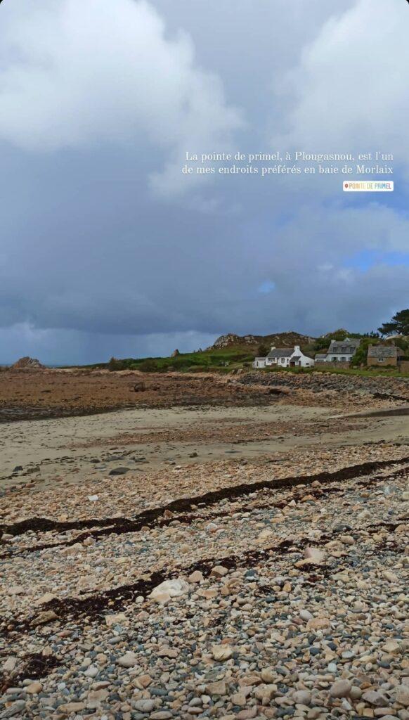 La pointe de Primel à Plougasnou en baie de Morlaix, à proximité du GR34 et de la Vélomaritime