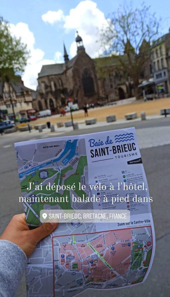 une carte pour explorer la Bretagneà pied et à vélo